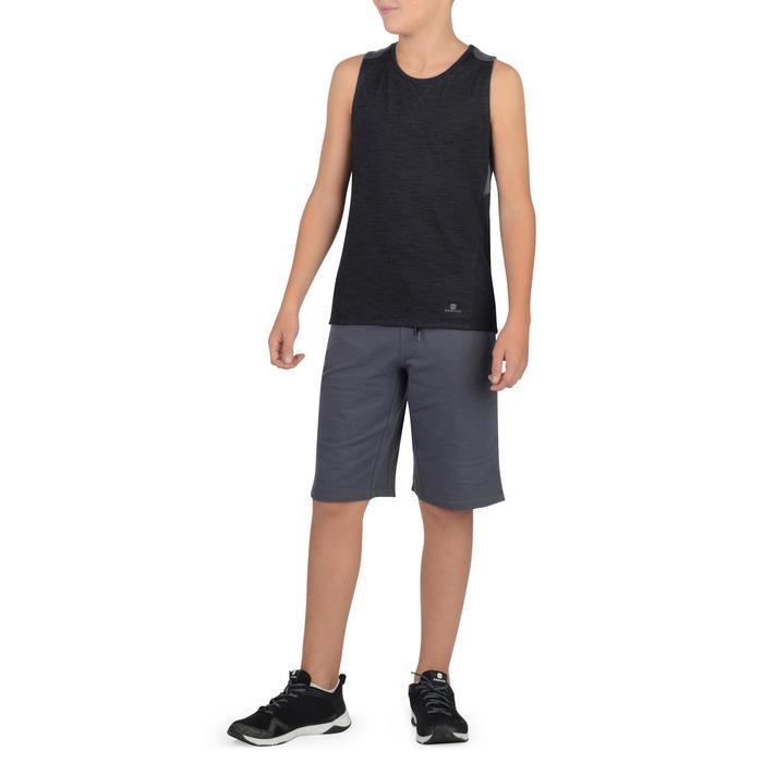 Mouwloos gymshirt 500 voor jongens zwart
