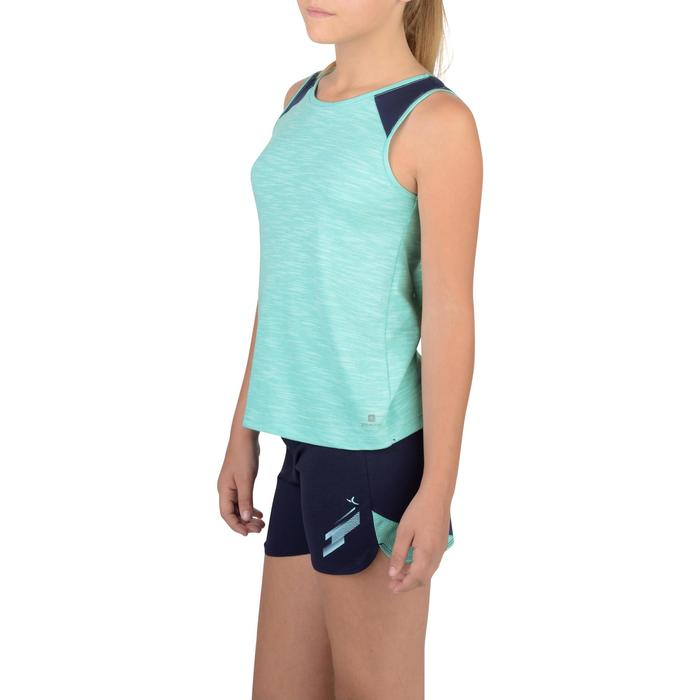 Camiseta sin mangas 500 gimnasia niña azul