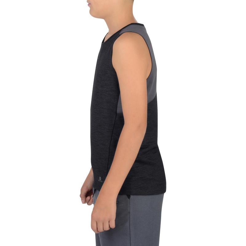 500 Boys' Gym Tank Top - Black
