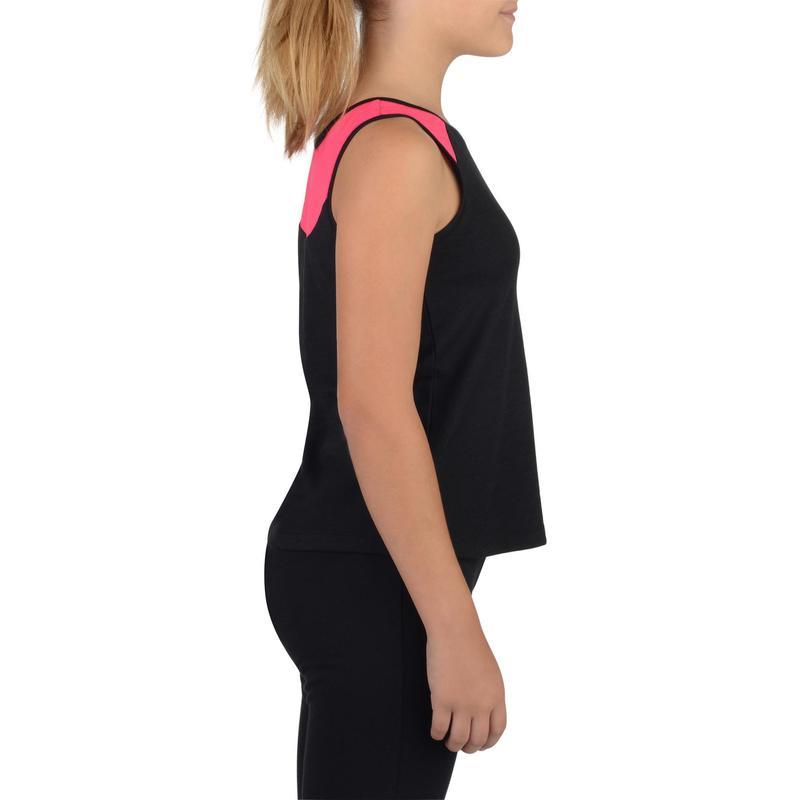 49b4d753049d6 Camiseta Regata Infantil Feminina de Fitness Domyos