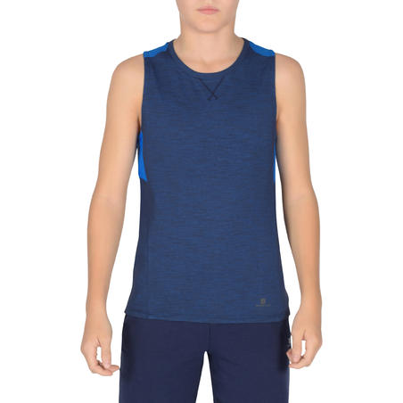 500 Boys' Gym Tank Top - Biru