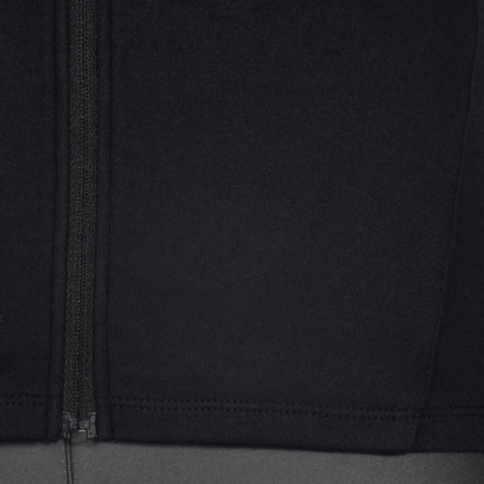 Gymhoodie met rits S900 voor meisjes print zwart