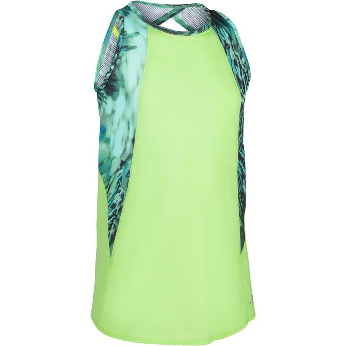 Camiseta sin mangas S900 gimnasia niña estampado verde