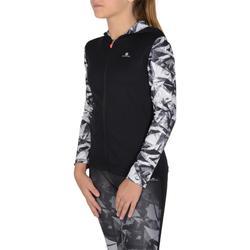 Chaqueta con capucha S900 gimnasia niña estampado negro