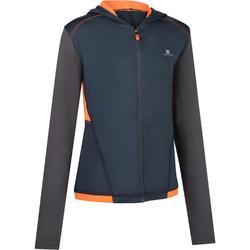 S900 Boys' Gym Hooded Jacket - Grey/Orange