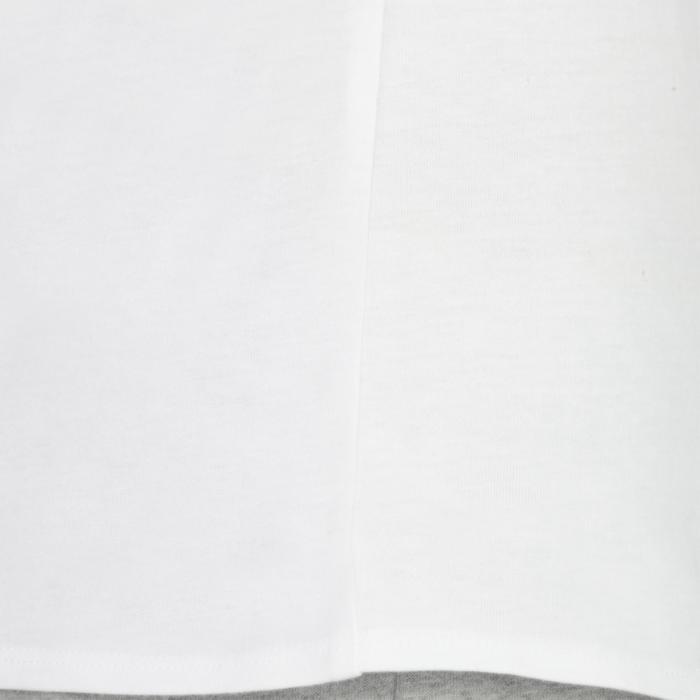 T-Shirt manches longues 100 Gym fille blanc