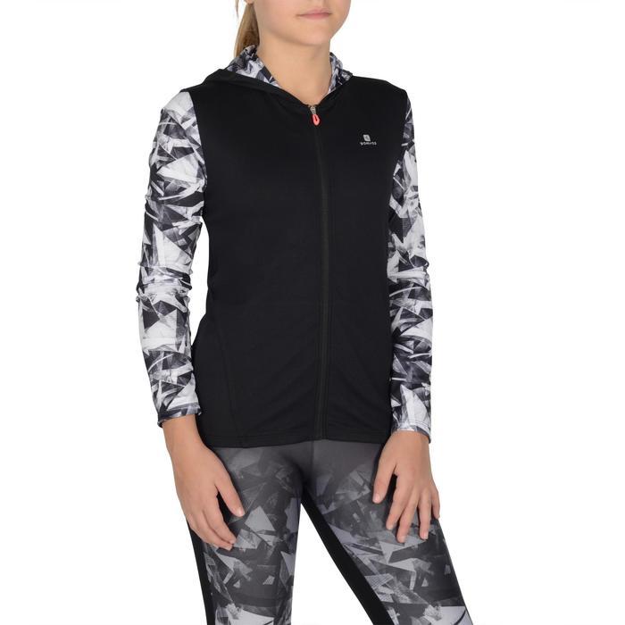 Veste zippée capuche Gym Energy fille - 1326990