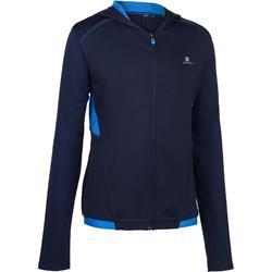 Gym hoodie met rits S900 voor jongens marineblauw blauw