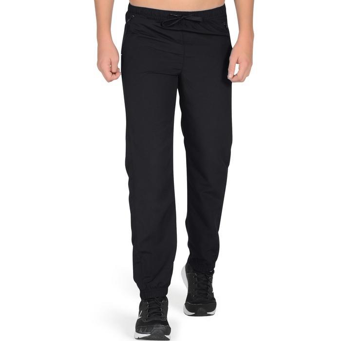 Pantalon léger S500 Gym garçon noir - 1327011