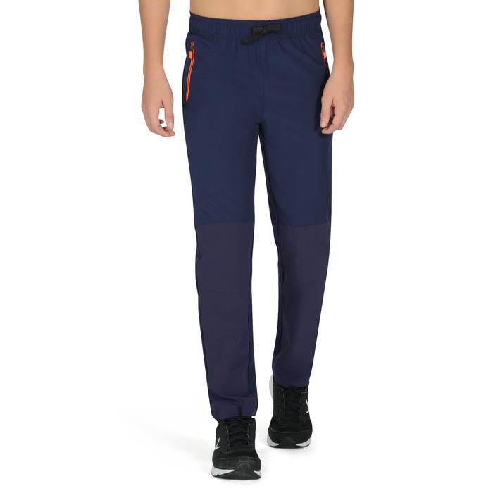 Pantalon léger W900 Gym garçon marine jaune - 1327018