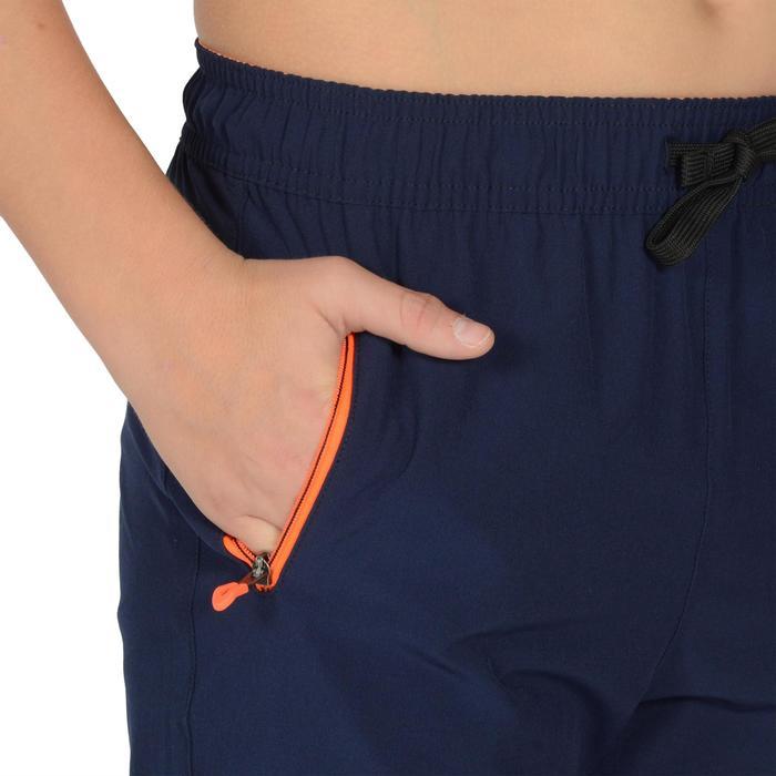 Pantalón ligero W900 gimnasia niño azul marino amarillo