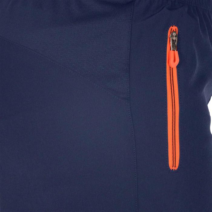 Lichte gymbroek W900 voor jongens marineblauw geel