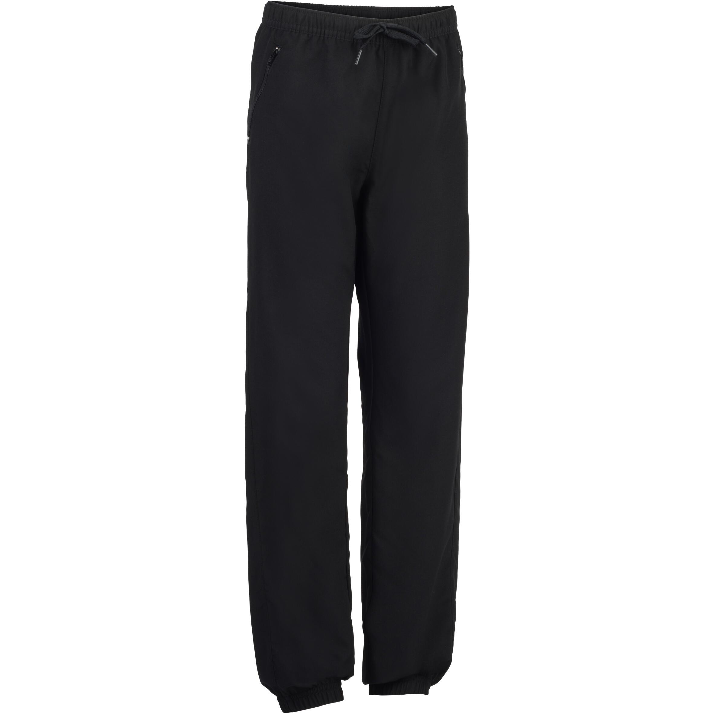 Pantalón 560 ligero gimnasia niño bolsillos negro