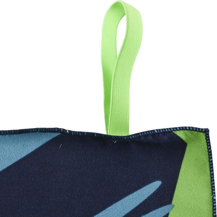 Microvezel handdoek print blauw/groen L