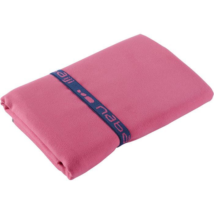 Toalla Baño Piscina Natación Nabaiji Microfibra Compacta Talla L Rosa