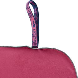 Serviette microfibre ultra compacte rose taille XL 110 x 175 cm