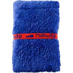 Toalla para los pies doble faz azul de microfibra suave diámetro 60 cm