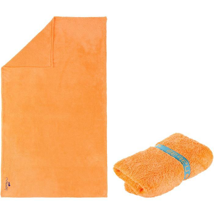 Serviette microfibre ultra douce orange clair taille L 80 x 130 cm