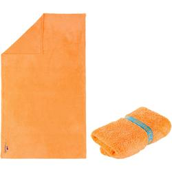 Serviette microfibre ultra douce orange clair taille L 80 x 130 cm