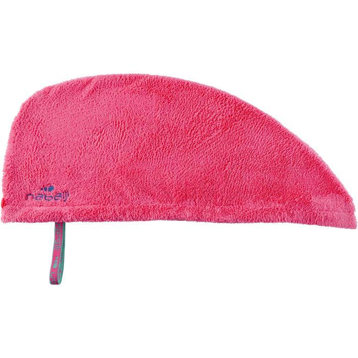 Serviette cheveux rose en microfibre douce - 1327098