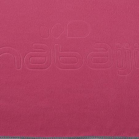 Ultra compact microfibre towel size XL 110 x 175 cm - pink