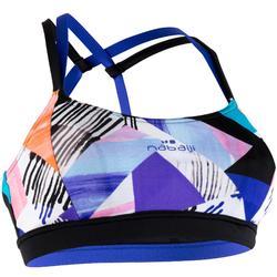 Bikinitop Meg voor aquafitness of aquabiking tropical