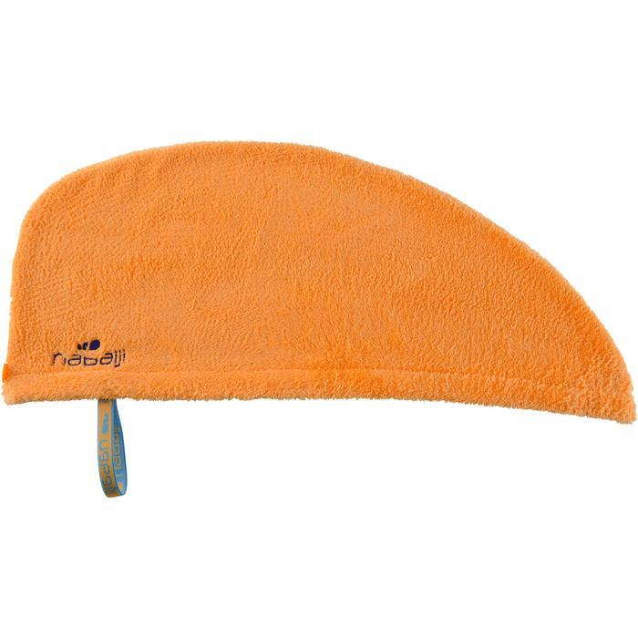Toalla para el pelo naranja claro de microfibra suave
