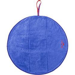 Serviette pour les pieds bi face bleue en microfibre douce diamètre 60 cm
