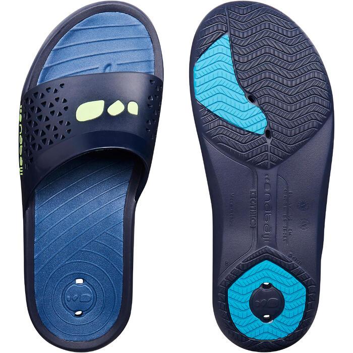 男款泳池拖鞋SSU 550藍色