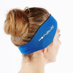 Schwimm-Stirnband Ohrenschutz Neopren blau