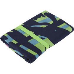 Printed Microfibre Towel, L Blue Green