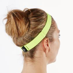 Set van 3 haarbanden voor aquafitness Aquaheadband zwart geel en paars