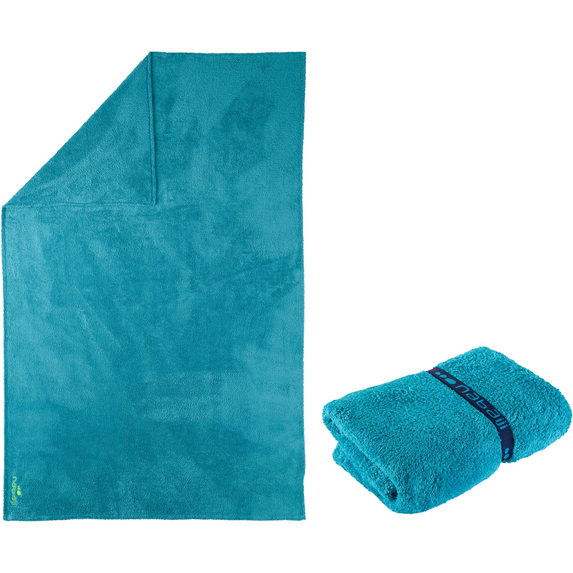 Serviette microfibre bleue très douce taille TG 3,6' x 5,7'
