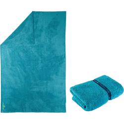Zachte microvezel handdoek blauw maat XL 110 x 175 cm