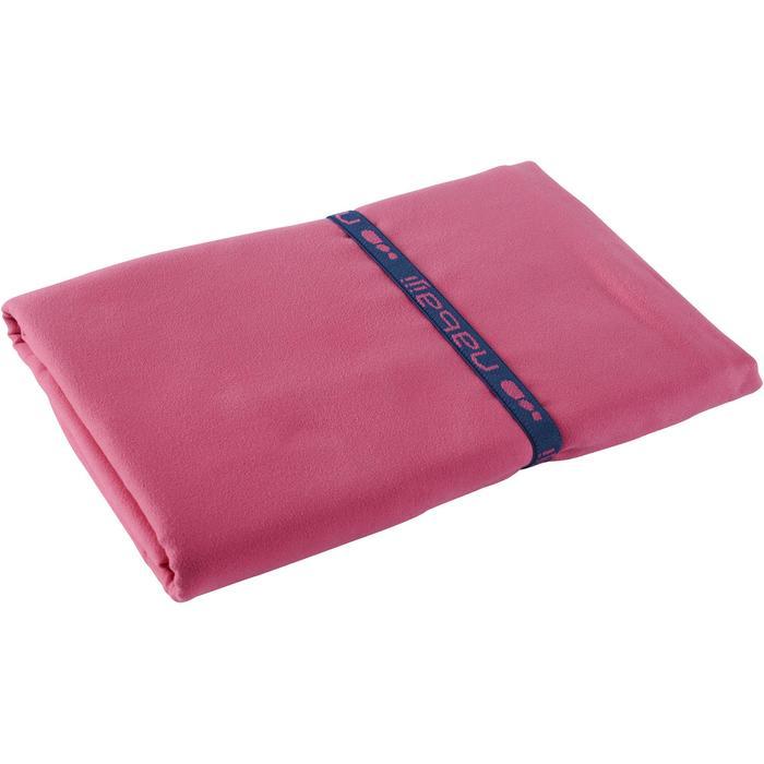 Supercompacte microvezel handdoek roze maat XL 110 x 175 cm