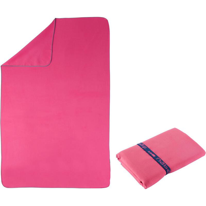 Microvezel handdoek roze L