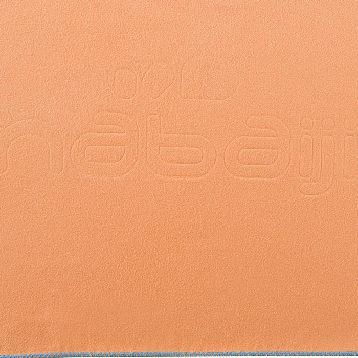 Toalla Baño Piscina Natación Nabaiji Microfibra Compacta Talla L Naranja Claro