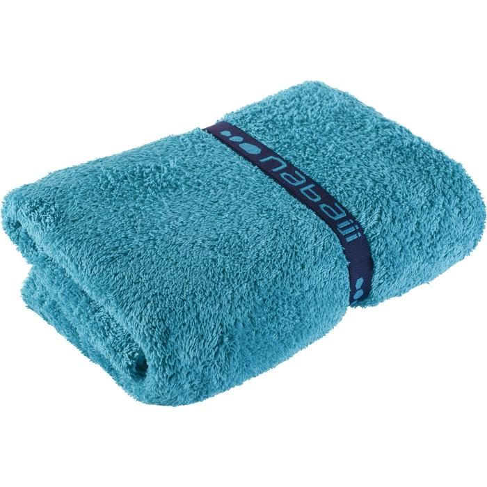 Serviette de bain microfibre ultra douce bleu taille XL 110 x 175 cm