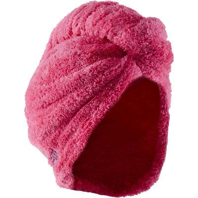 Serviette microfibre douce cheveux rose