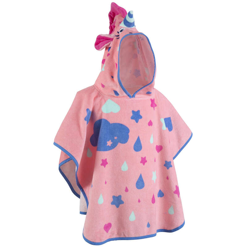 BABY SWIMSUITS & ACCESS. Swimming - Baby's Poncho - Unicorn Pink NABAIJI - Swimwear