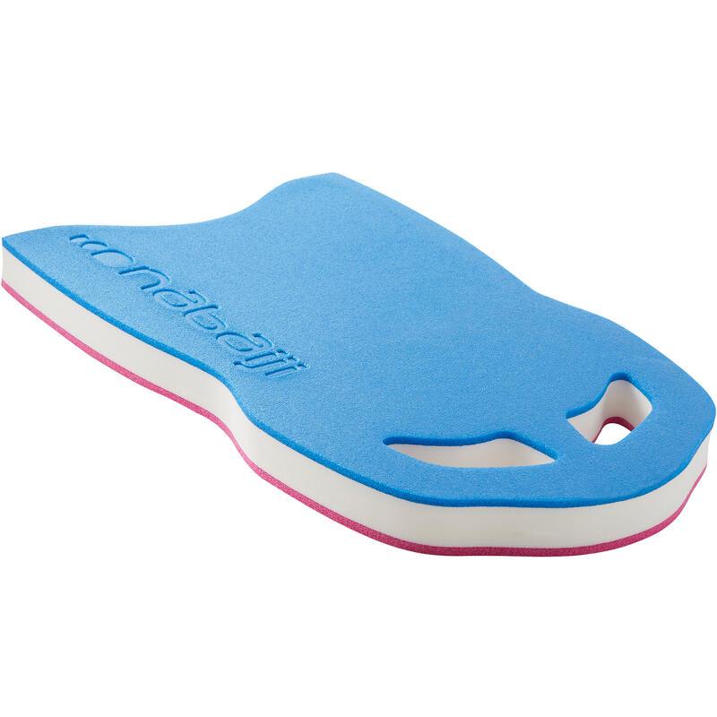 Baseina peldēšanas dēlis, liels, zils, rozā