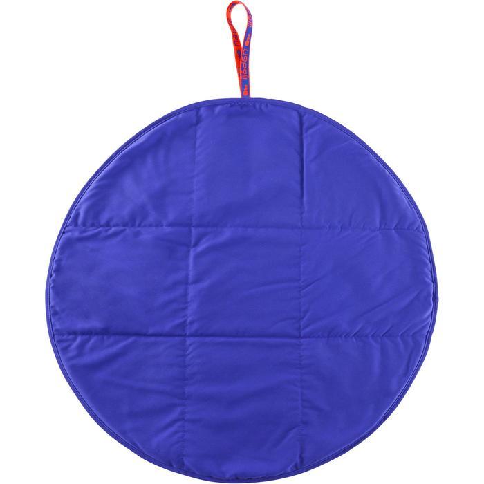 Tweezijdige blauwe microvezelhanddoek voor de voeten diameter 60 cm
