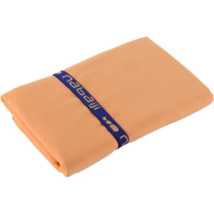 Toalla de microfibra naranja claro talla L 80 x 130 cm.