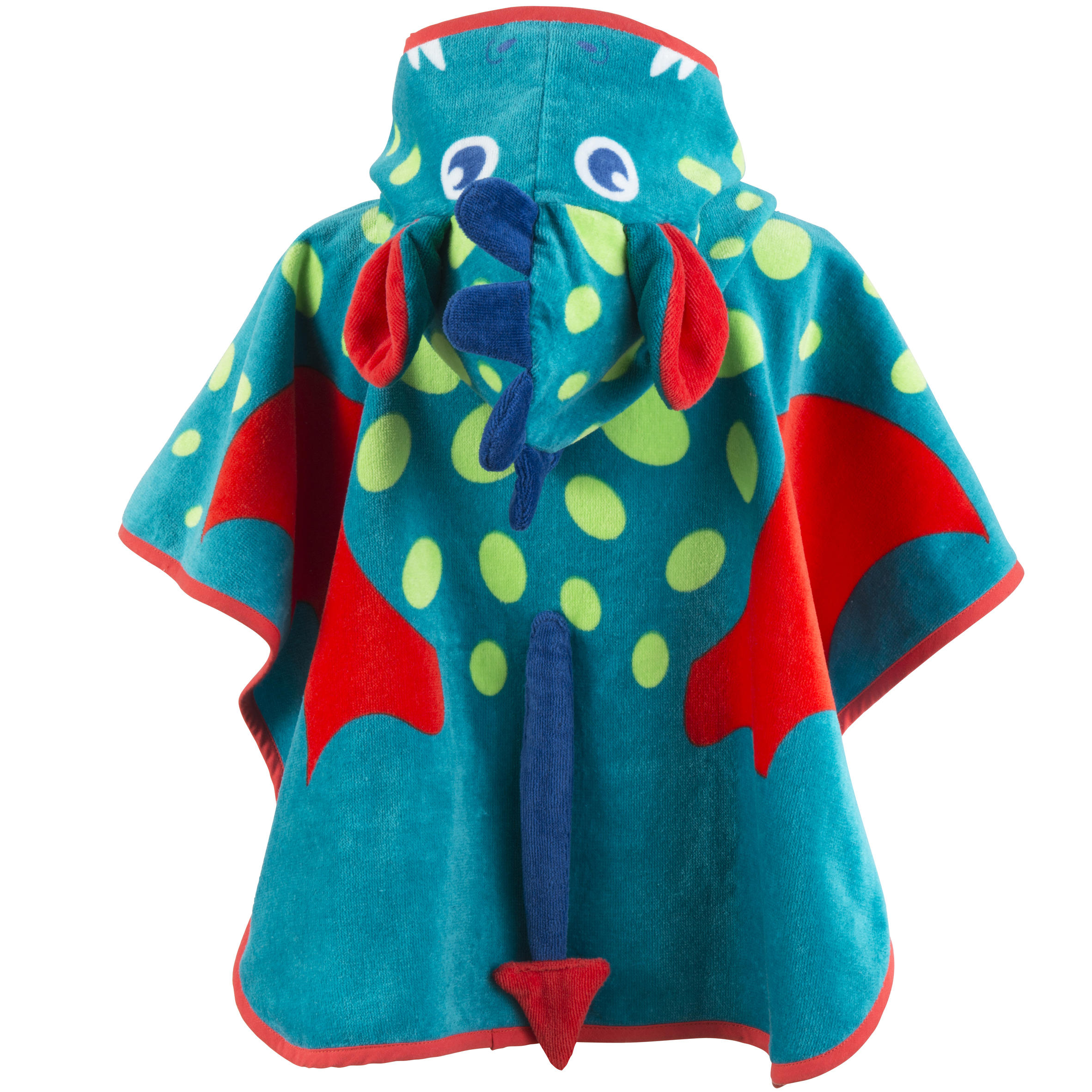 Stephan Baby Poncho Collection Bright Blue Water-Repellent Rain Poncho Fits 6-18 Months Green