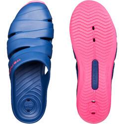 女款泳池拖鞋SCU 100-深藍色