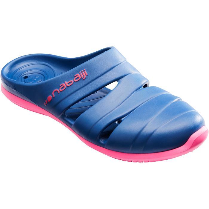 Badslippers voor dames Clog 100 donkerblauw