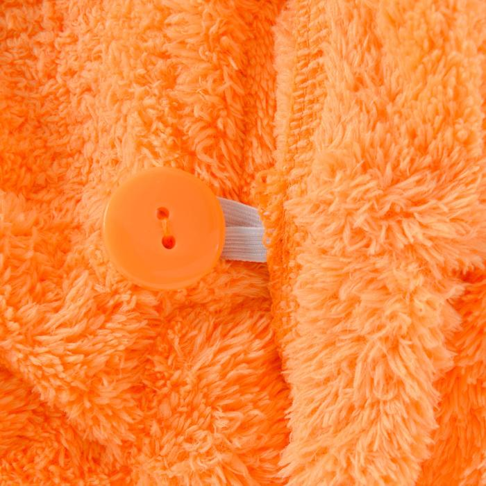Serviette cheveux orange clair en microfibre douce