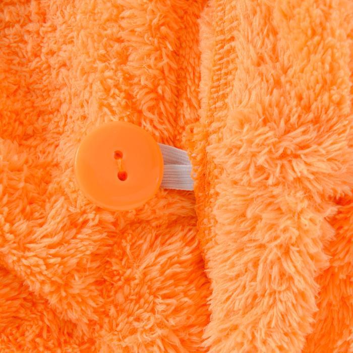 Serviette cheveux rose en microfibre douce - 1327224