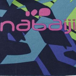 Toalla Baño Piscina Natación Nabaiji Azul Estampado Verde Microfibra Talla L