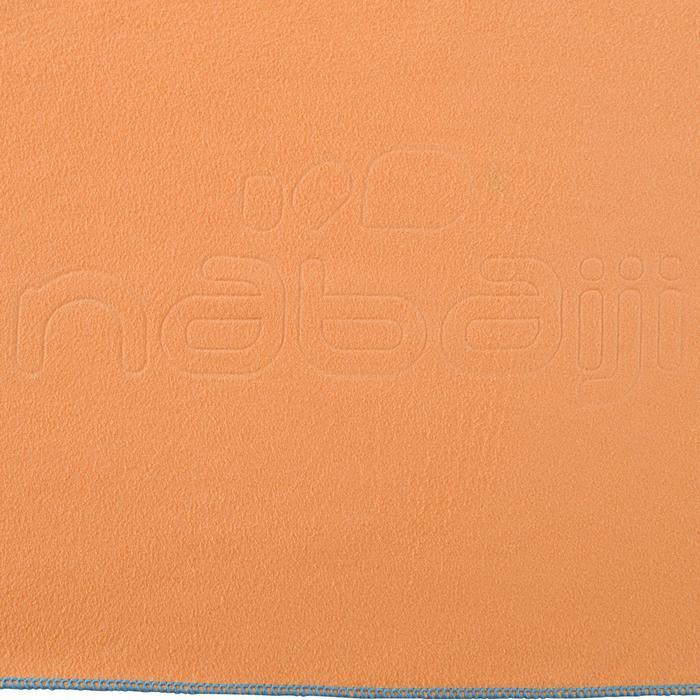 Toalla de microfibra naranja claro ultracompacta talla M 65 x 90 cm